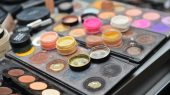 Professional makeup set. cosmetics closeup.
