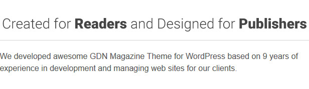 GDN - Magazine Blog & Video Theme